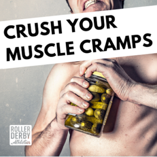 crush your muscle cramps picture of a man trying very hard to open a jar of pickles