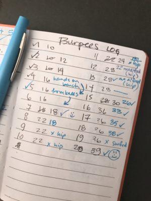 My Burpee Build-up plan and log