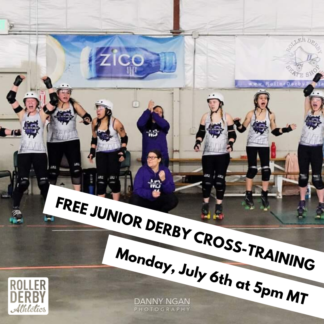 Junior Roller Derby Free Cross Training Session Monday July 6 5pm MT