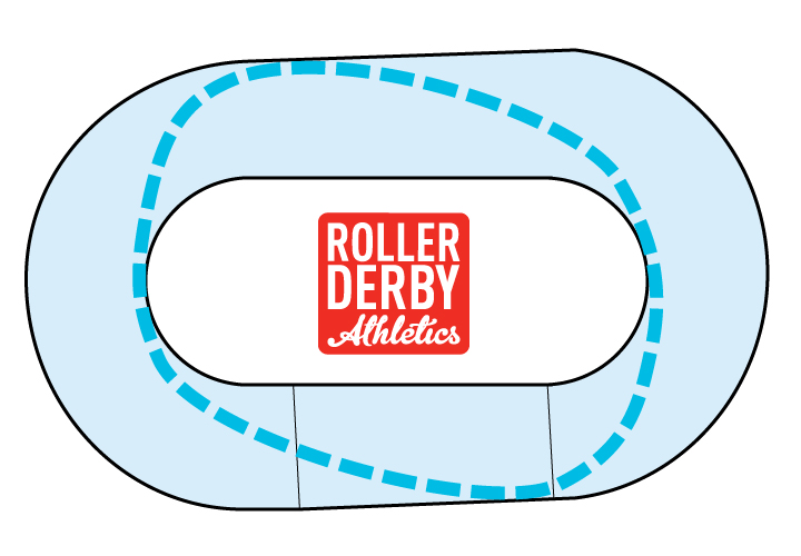 Roller Derby Track Diamond