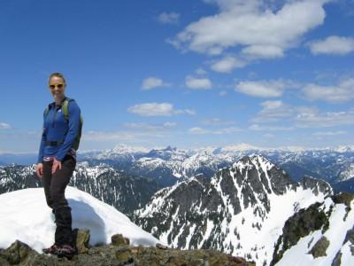 At the top of Brunswick Peak, near Squamish, BC