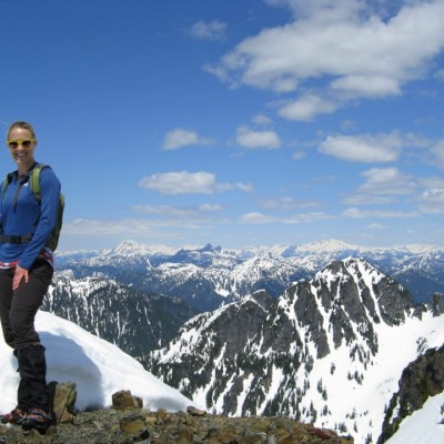 At the top of Brunswick Peak, near Squamish, BC
